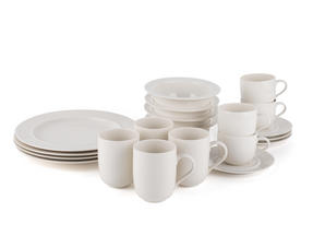 Alessi La Bella Tavola Porcelain 4-Place Setting Breakfast and Dinner Dining Set Thumbnail 3