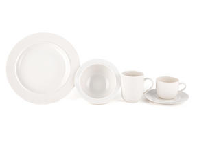 Alessi La Bella Tavola Porcelain 4-Place Setting Breakfast and Dinner Dining Set Thumbnail 4