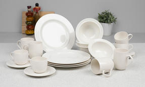Alessi La Bella Tavola Porcelain 4-Place Setting Breakfast and Dinner Dining Set Thumbnail 2