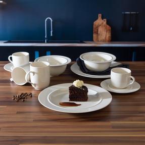 Alessi La Bella Tavola Porcelain 4-Place Setting Breakfast and Dinner Dining Set Thumbnail 2