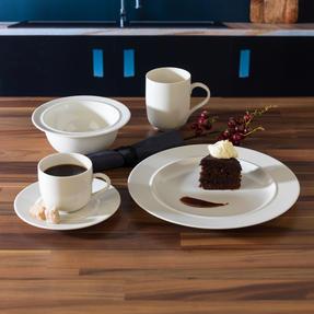 Alessi La Bella Tavola Porcelain 4-Place Setting Breakfast and Dinner Dining Set Thumbnail 3