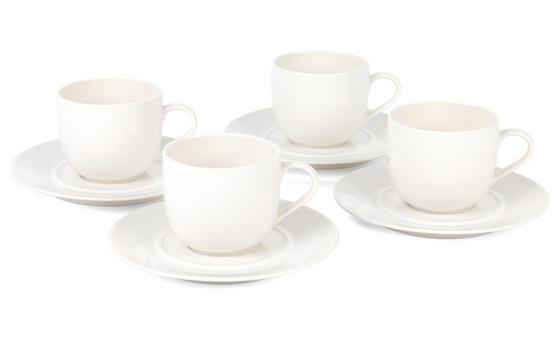 Alessi La Bella Tavola Porcelain Cups and Saucers, Set of 4