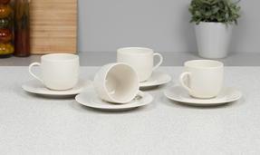 Alessi La Bella Tavola Porcelain Cups and Saucers, Set of 4 Thumbnail 2