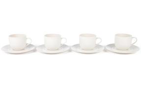 Alessi La Bella Tavola Porcelain Cups and Saucers, Set of 4 Thumbnail 3