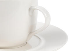 Alessi La Bella Tavola Porcelain Cups and Saucers, Set of 4 Thumbnail 4