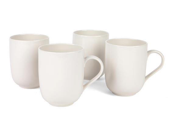 Alessi La Bella Tavola Porcelain Mugs, Set of 4
