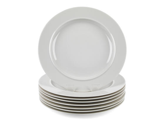 Alessi La Bella Tavola Porcelain Dinner Plates, 27 cm, Set of 4