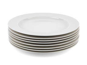 Alessi La Bella Tavola Porcelain Dinner Plates, 27 cm, Set of 4 Thumbnail 3