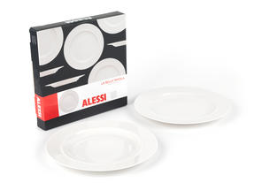 Alessi La Bella Tavola Porcelain Dinner Plates, 27 cm, Set of 4 Thumbnail 6