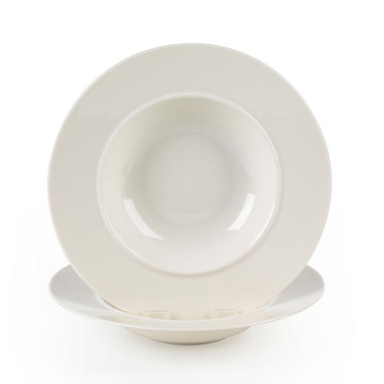 Alessi La Bella Tavola Porcelain Soup, Salad, Dessert Bowls, 23 cm, Set of 4