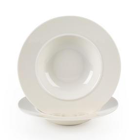 Alessi La Bella Tavola Porcelain Soup, Salad, Dessert Bowls, 23 cm, Set of 4 Thumbnail 1