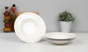 Alessi La Bella Tavola Porcelain Soup, Salad, Dessert Bowls, 23 cm, Set of 4 Thumbnail 2