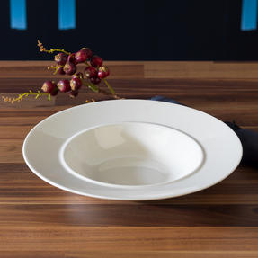 Alessi La Bella Tavola Porcelain Soup, Salad, Dessert Bowls, 23 cm, Set of 4 Thumbnail 4