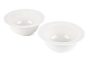 Alessi La Bella Tavola Porcelain Cereal, Soup, Dessert Bowls, 16 cm, Set of 4