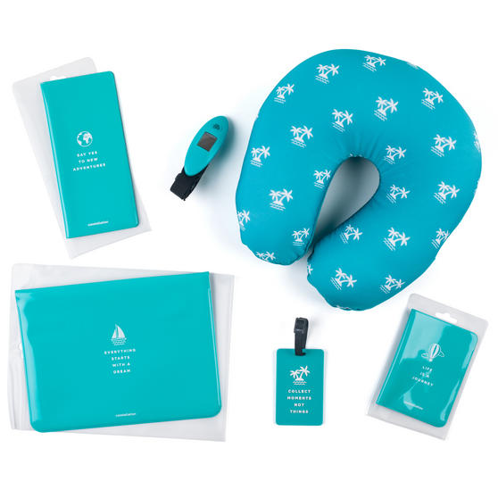 Constellation LGTA0051TESDMIL 6 Piece Travel Set, Turquoise