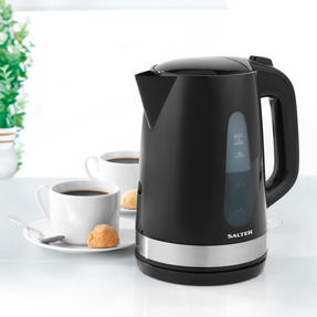 Salter Deco Collection 1.7L Kettle and 2 Slice Cool Touch Toaster Set, Black / Stainless Steel Thumbnail 3