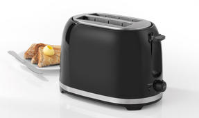 Salter Deco Collection 1.7L Kettle and 2 Slice Cool Touch Toaster Set, Black / Stainless Steel Thumbnail 5