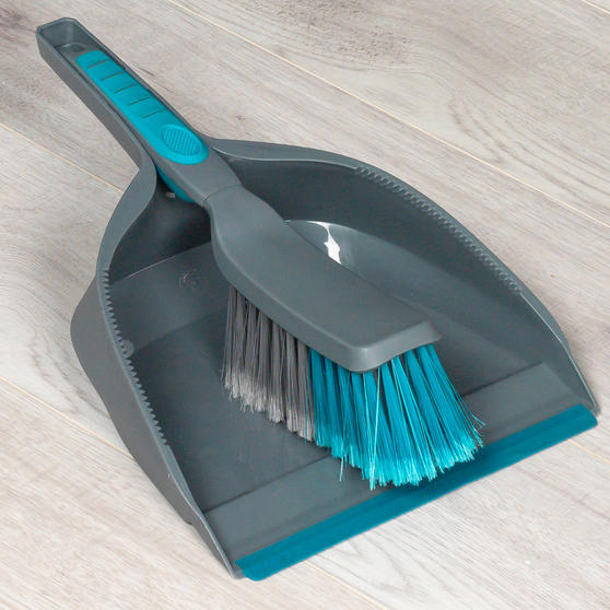 Beldray Telescopic Floor Broom with Dustpan and Brush Set, Blue / Grey Thumbnail 3