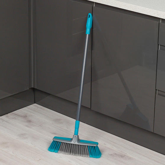 Beldray Telescopic Floor Broom with Dustpan and Brush Set, Blue / Grey Thumbnail 4