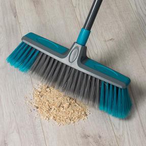 Beldray Telescopic Floor Broom with Dustpan and Brush Set, Blue / Grey Thumbnail 6