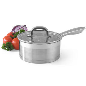 Salter Timeless Collection 5 Piece Saucepan and Non-Stick Frying Pan Set, Stainless Steel Thumbnail 5