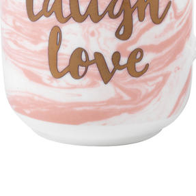 Portobello CM05348 Devon Marble Live Laugh Love Bone China Mug, Set of Six Thumbnail 4