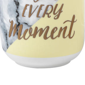 Portobello CM05713 Devon Marble Enjoy Every Moment Bone China Mug, Set of Four Thumbnail 4