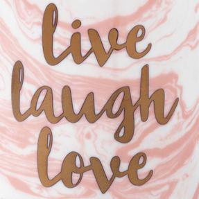 Portobello COMBO-3003 Devon Marble Live Laugh Love and Enjoy Every Moment Mug Set, 4 Piece Thumbnail 6