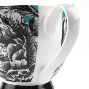 Portobello KB246752 Sandringham Zen Garden Turquoise Bone China Mug, Set of Four Thumbnail 4