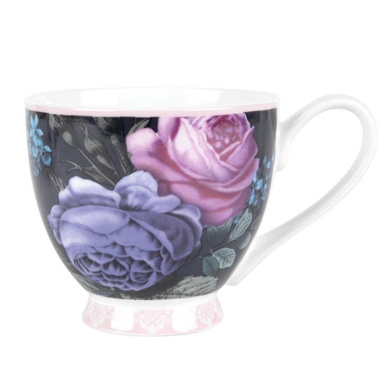 Portobello Sandringham Celina Bone China Mug, Set of 6