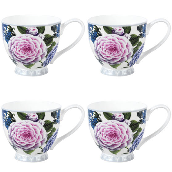 Portobello Sandringham Jayna Bone China Mug, Set of 4