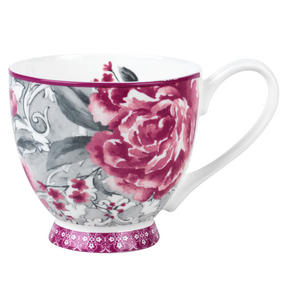 Portobello COMBO-3032 Sandringham Valentina Baroque Bone China Mug, Set of 4