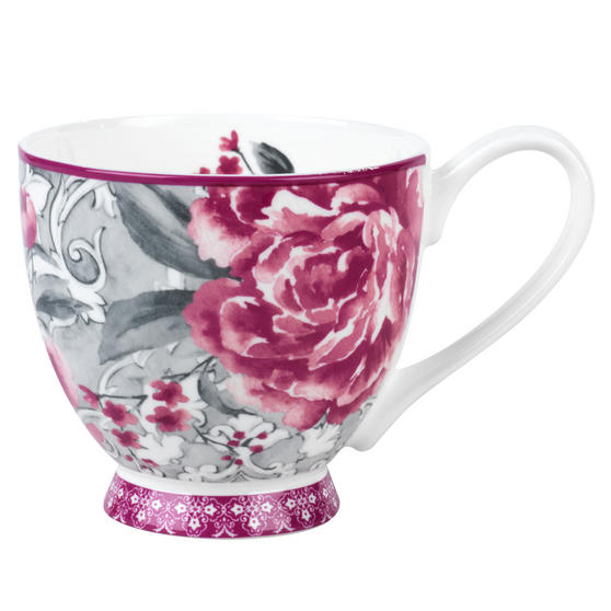 Portobello COMBO-3033 Sandringham Valentina Baroque Bone China Mug, Set of 6