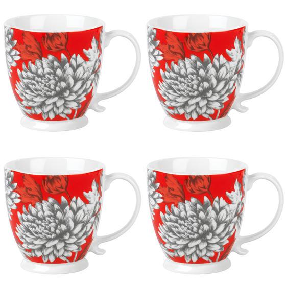 Cambridge COMBO-3044 Kensington Yumi Fine China Mug, Set of 4