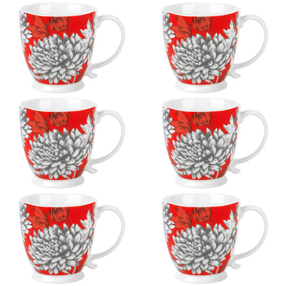Cambridge COMBO-3045 Kensington Yumi Fine China Mug, Set of 6