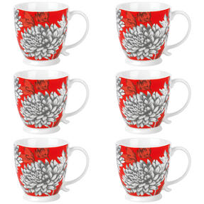 Cambridge COMBO-3045 Kensington Yumi Fine China Mug, Set of 6 Thumbnail 1