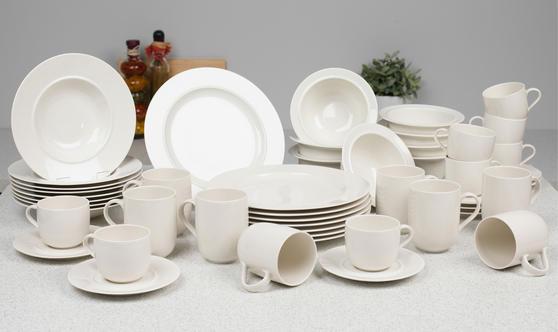 Alessi La Bella Tavola Porcelain 8-Place Setting Dining Dinnerware Set