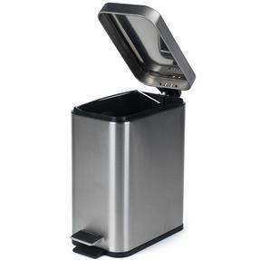 Salter BW06667 Rectangular Kitchen Bathroom Pedal Bin, 5 Litre, Stainless Steel Thumbnail 2