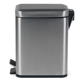 Salter BW06667 Rectangular Kitchen Bathroom Pedal Bin, 5 Litre, Stainless Steel Thumbnail 3
