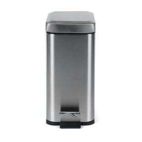 Salter BW06667 Rectangular Kitchen Bathroom Pedal Bin, 5 Litre, Stainless Steel Thumbnail 4