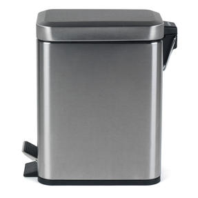 Salter BW06667 Rectangular Kitchen Bathroom Pedal Bin, 5 Litre, Stainless Steel Thumbnail 3