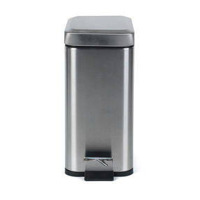 Salter BW06667 Rectangular Kitchen Bathroom Pedal Bin, 5 Litre, Stainless Steel Thumbnail 4