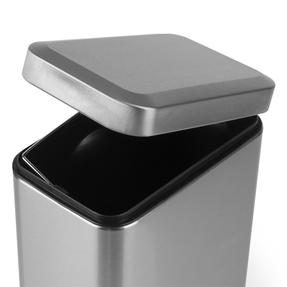 Salter BW06667 Rectangular Kitchen Bathroom Pedal Bin, 5 Litre, Stainless Steel Thumbnail 6