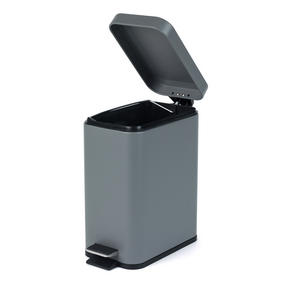 Salter Rectangular Kitchen Bathroom Pedal Bin, 5 Litre, Grey Thumbnail 3