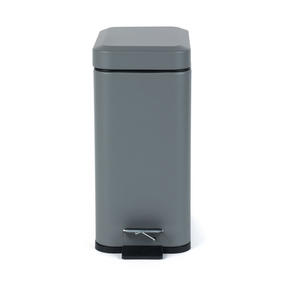 Salter Rectangular Kitchen Bathroom Pedal Bin, 5 Litre, Grey Thumbnail 5