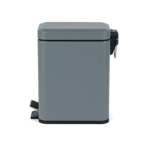 Salter Rectangular Kitchen Bathroom Pedal Bin, 5 Litre, Grey Thumbnail 4