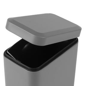 Salter Rectangular Kitchen Bathroom Pedal Bin, 5 Litre, Grey Thumbnail 7