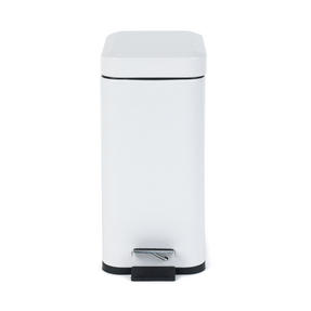 Salter BW06667W Rectangular Kitchen Bathroom Pedal Bin, 5 Litre, White Thumbnail 5