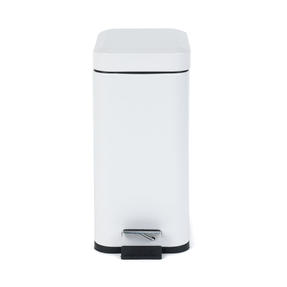 Salter Rectangular Kitchen Bathroom Pedal Bin, 5 Litre, White Thumbnail 5