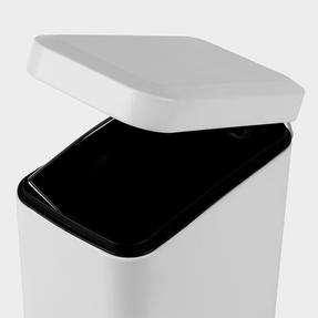 Salter Rectangular Kitchen Bathroom Pedal Bin, 5 Litre, White Thumbnail 7